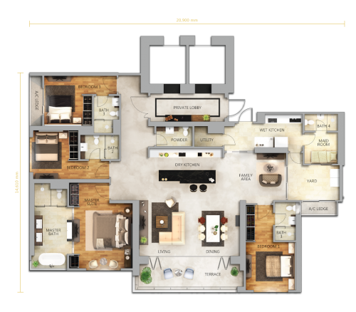 Floor Plan Type B
